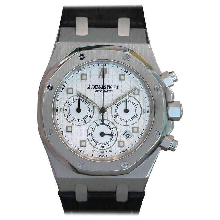 Audemars Piguet White Gold Royal Oak Chronograph Automatic Wristwatch