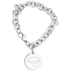 Tiffany & Co. Return to Tiffany Round Tag Sterling Silver Bracelet