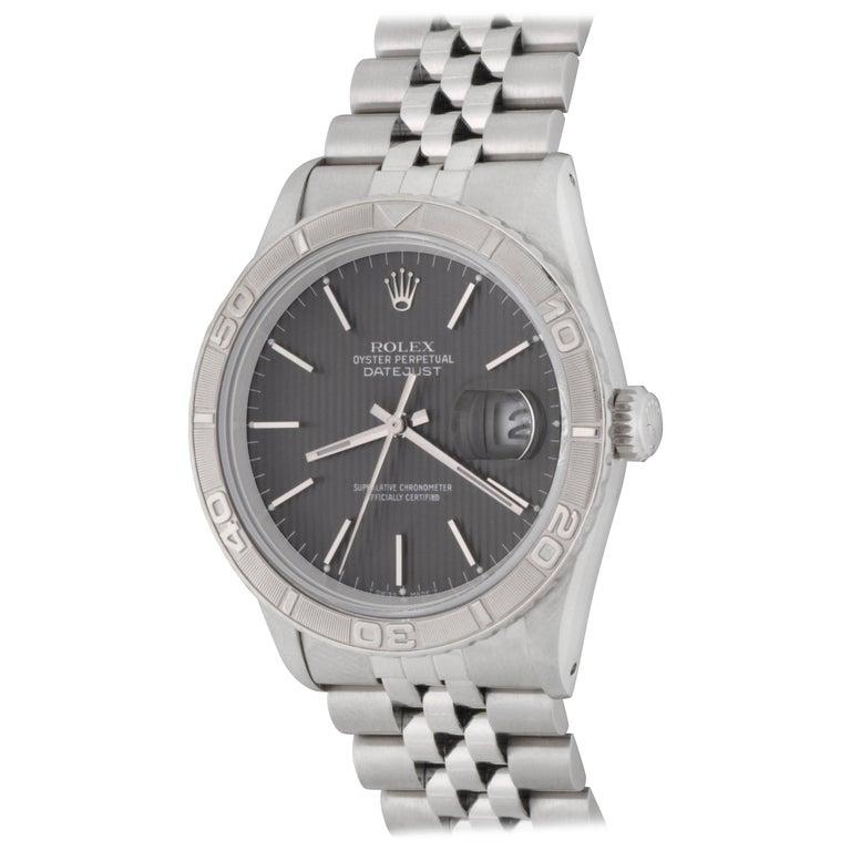 Rolex stainless Steel Datejust Thunderbird Bezel Automatic Wristwatch Ref 16264