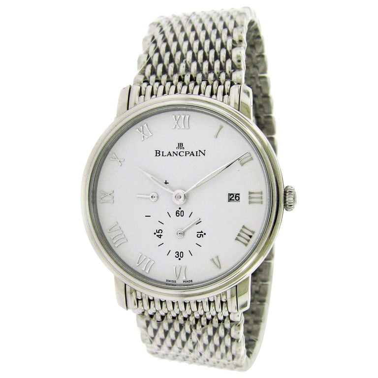 Blancpain Stainless Steel Villeret Ultra Slim Self-Winding Wristwatch For Sale