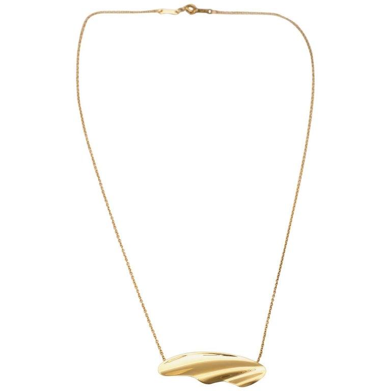 Tiffany & Co. Elsa Peretti 18 Karat Yellow Gold Pendant Necklace