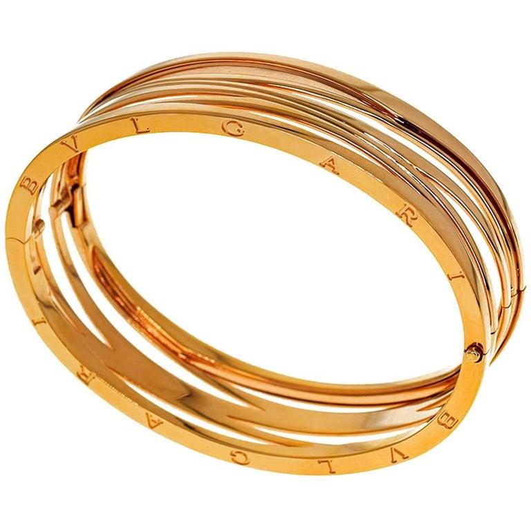 Bvlgari B Zero1 Design Legend Bracelet L Ref Br858070 18 Karat Pink Gold For