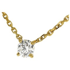 Cartier Love Support Diamond 0.52 Carat G-VS2-VG Pendant Necklace 18Karat YG