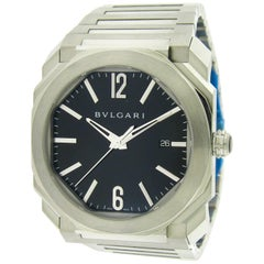 Bulgari Stainless Steel Octo by Gerald Genta Automatic Wristwatch