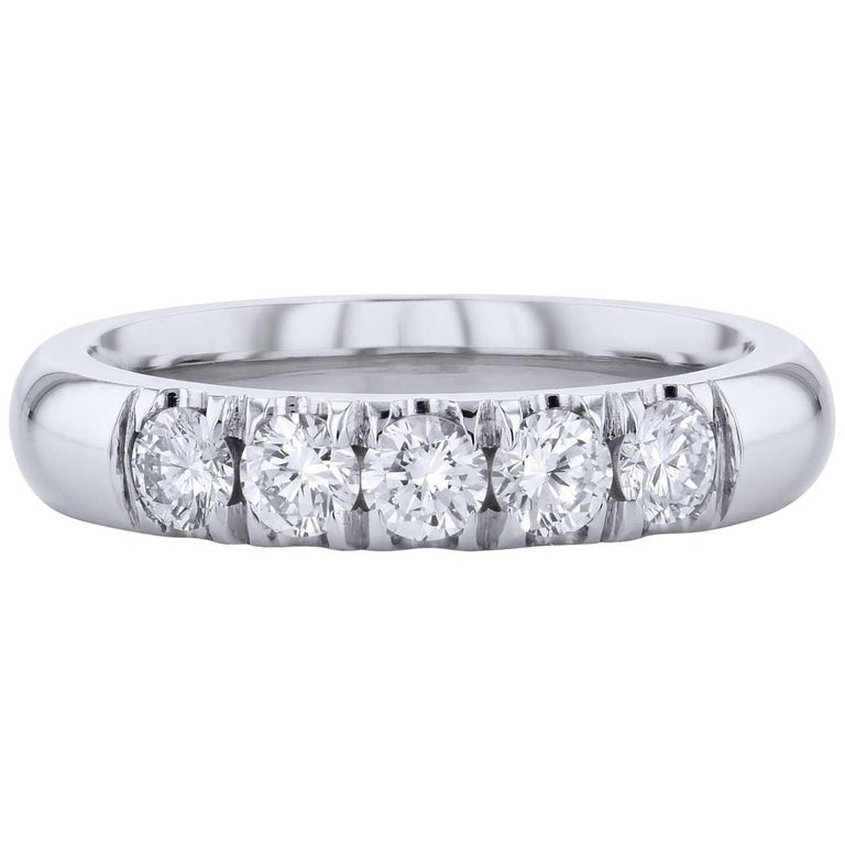H & H 0.64 Carat Diamond Band Ring