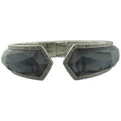 Stephan Webster 18 Kt White Gold Black MOP Crystal Haze Diamond Bracelet