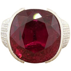 Royal Gem Rubelite Diamond Gold Ring