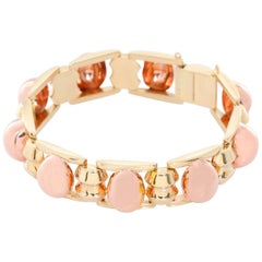 14 Karat Yellow Gold and Rose Gold Bracelet