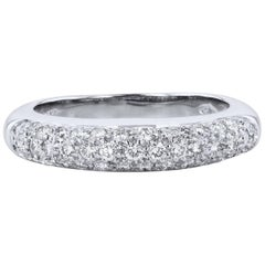 0.50 Carat Pave-Set Diamond Band Ring
