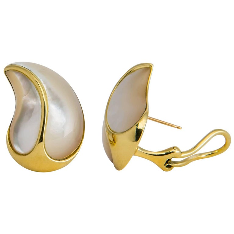 Angela Cummings Mother-of-Pearl and Gold Earrings