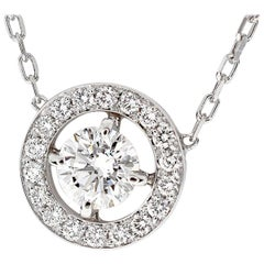 Boucheron Diamonds 1.01 Carat E-VS1-Ex AVA Pendant Necklace 18 karat White Gold