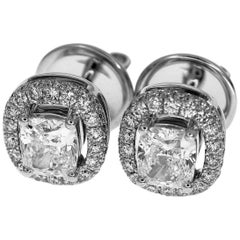Graff Constellation Diamond 0.70-0.71 Carat Stud Earrings 18 karat White Gold