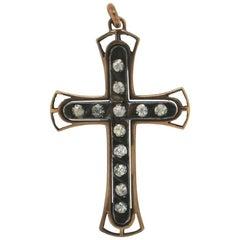 Cross Gold Diamonds Pendant