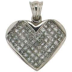Heart White Gold Diamonds Pendant