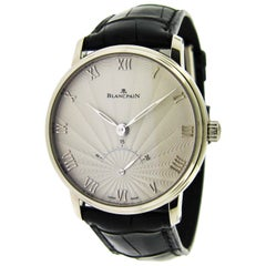 Blancpain White Gold Villeret Retrograde Seconds Self-Winding Wristwatch