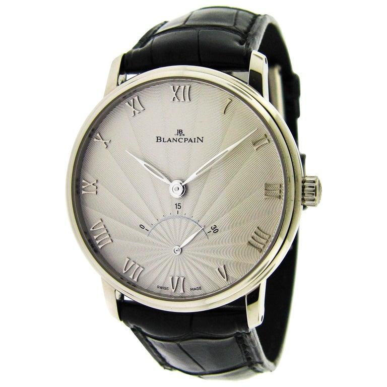 Blancpain White Gold Villeret Retrograde Seconds Self-Winding Wristwatch