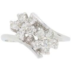 Bypass Flower Diamond Ring