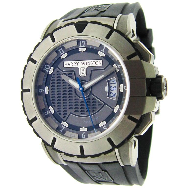 Harry Winston Zalium Ocean Sport Automatic Wristwatch