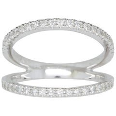 .42 Carat White Diamond Double Band