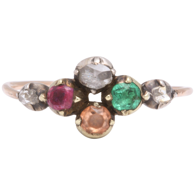 Georgian Harlequin Ring