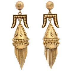 Victorian Etruscan Revival Tassel Earrings