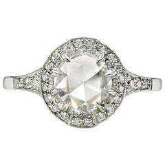 Beautiful Rose-Cut Diamond Surround Ring