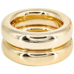 Tiffany & Co. Elsa Peretti Set of Two Gold Bangle Bracelets