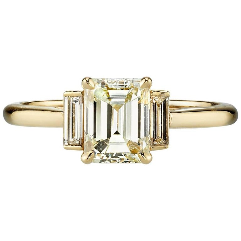 Classic Emerald Cut Three-Stone Ring For Sale