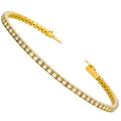 Cartier Lanieres Diamond and Gold Line Bracelet