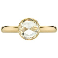 Classic and Simple Rose Cut Solitaire Ring