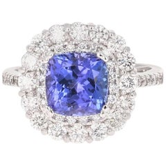 3.83 Carat Tanzanite Diamond Cocktail Ring