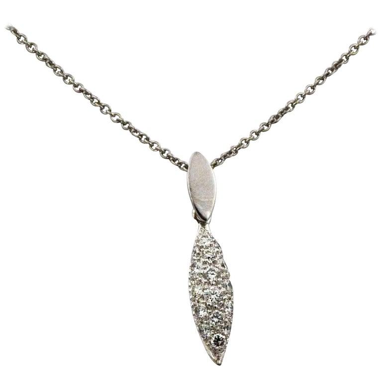 .25 Carat Diamond 18 Karat White Gold  Pendant