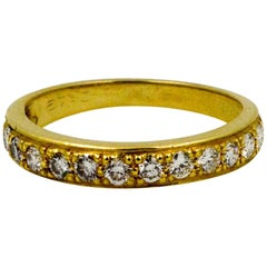 Diamond Eternity Band .60 Carat 18 Karat Yellow Gold