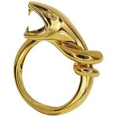 Boucheron Trouble Snake Ring 18 Karat Yellow Gold EU 51