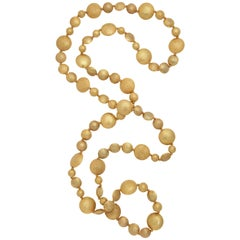 Rebecca Koven Gold Smartie Pants Necklace