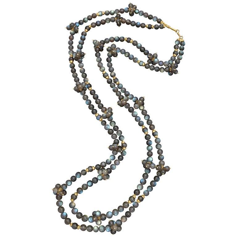 Rebecca Koven Gold Labradorite Necklace