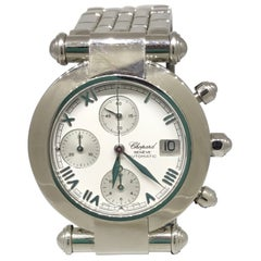 Chopard Imperial Stainless Steel White Dial Automatic Chronograph Bracelet Watch