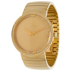 Dior Le D De Dior CD043151 Diamond Unisex Watch in 18 Karat Gold