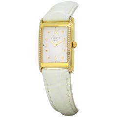 Tissot, 18 Karat Yellow Gold Ladies Quartz Wristwatch with Diamonds