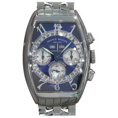 Franck Muller Stainless Steel Triple Calendar Chronograph Automatic Wristwatch