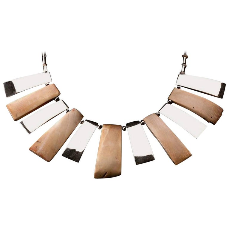 Necklace with Five Mochica Shell Pendants