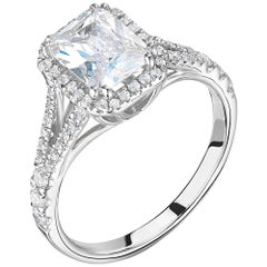Halo, Split Shank, Bespoke Diamond Engagement Ring