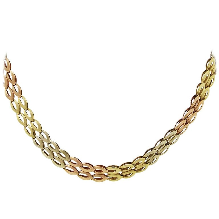 Double Row Oval Link Necklace