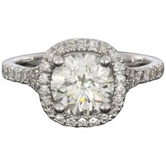 White Gold 1.94 Carat Round Diamond Engagement Ring