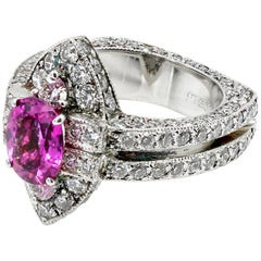 One-of-a-Kind 2.65 Carat Natural Pink Spinel and Diamond Ring