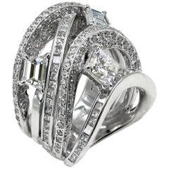 One-of-a-Kind, GIA Certified 1.00 Carat Princess Cut Diamond Ring