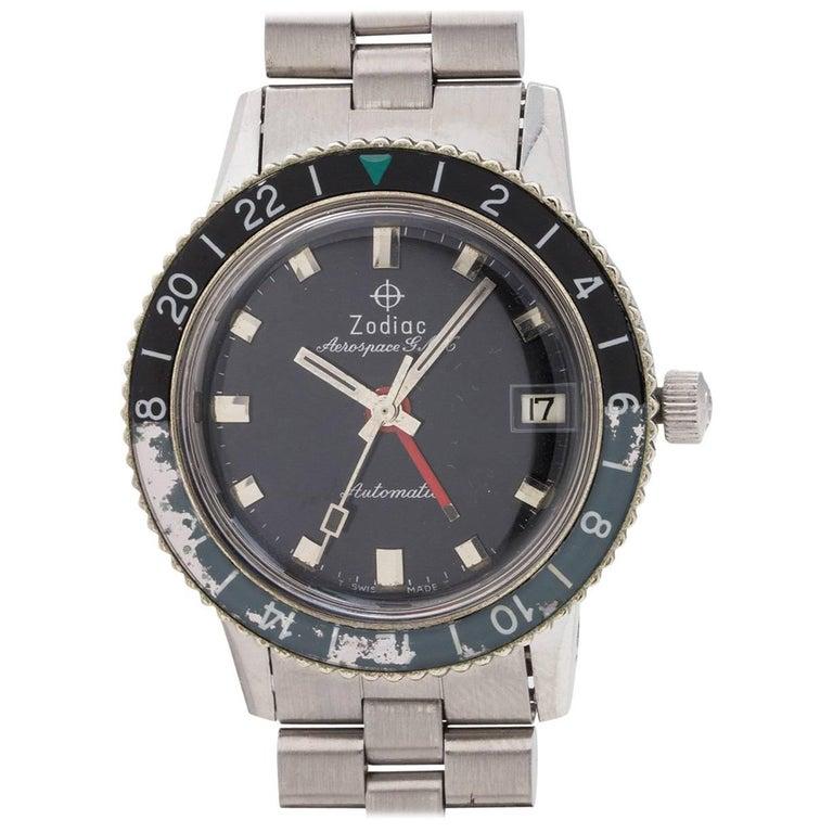 Zodiac Stainless Steel Aerospace GMT Automatic wristwatch, circa 1960s