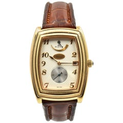 Parmigiani Fleurier Yellow Gold Ionica 8-Day Mechanical Wind Wristwatch