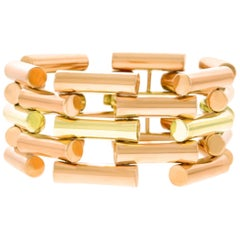 Art Deco Two-Tone Gold Bracelet
