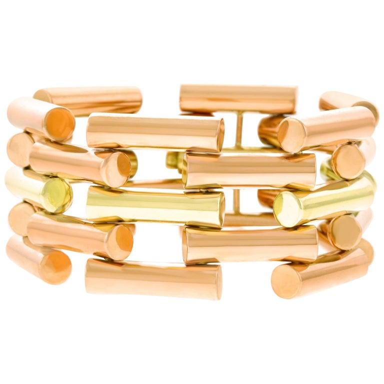 Art Deco Two-Tone Gold Bracelet